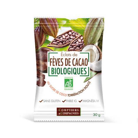 Comptoirs et Compagnies - Eclats de fèves de cacao torréfiées enrobés de sucre de coco bio