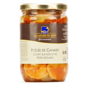 Le Canard du Midi - Duck confit with vegetables