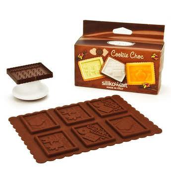 Silikomart - Kit moule en silicone pour cookie gnam gnam
