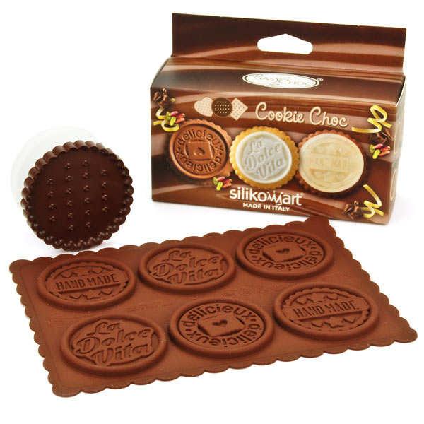 Kit moule en silicone pour cookie dolce vita - pack 3 pièces