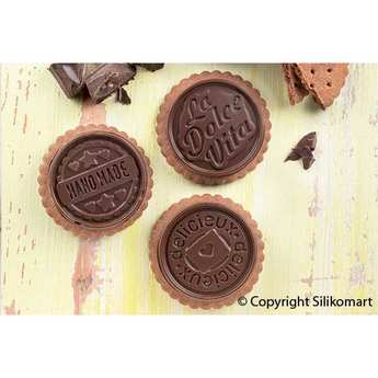 Silikomart - Kit moule en silicone pour cookie dolce vita