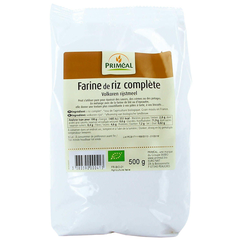 Organic whole rice flour