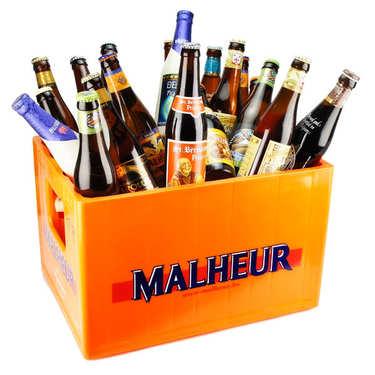 Caisse découverte de 24 bières belges