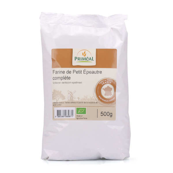Organic whole small spelt from Haute Provence flour