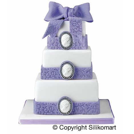 Silikomart - Moules pour gâteau à étage carré - Wonder cake