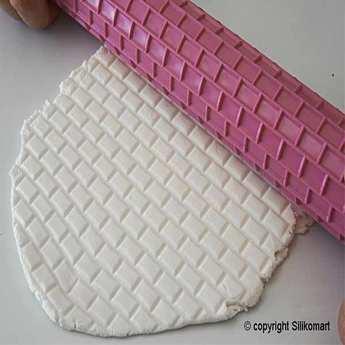 Silikomart - Rouleau décoratif briques pour pâtisserie - Wonder cake