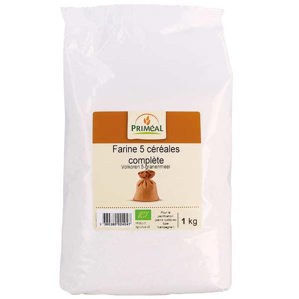 Farine complète 5 céréales bio