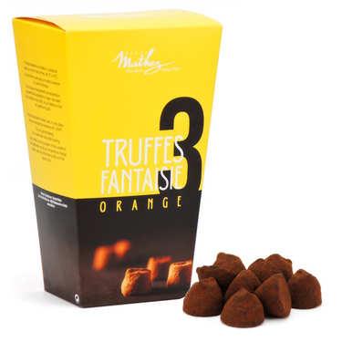 Truffes fantaisie chocolat orange confite