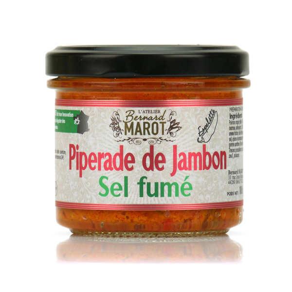 Piperade de jambon au sel fumé à tartiner