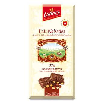 Villars maître chocolatier - Chocolat suisse au lait et noisettes Villars