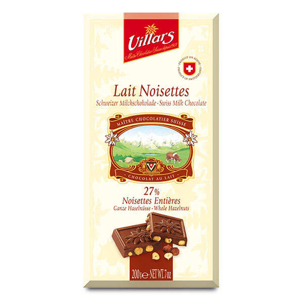 Milk Chocolate and Hazelnuts Villars