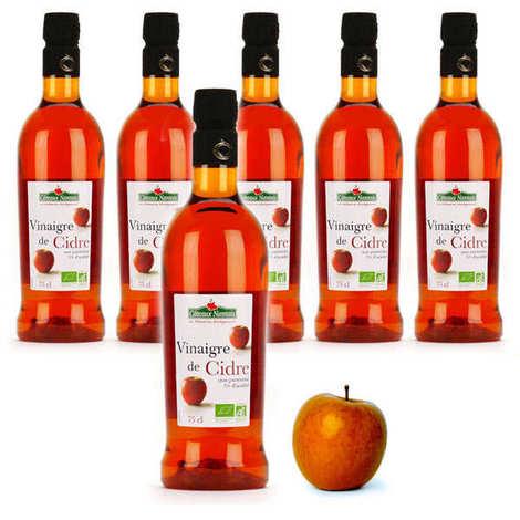 Coteaux Nantais - Vinaigre de cidre bio sans sulfite non pasteurisé  - Offre spéciale 6 bouteilles