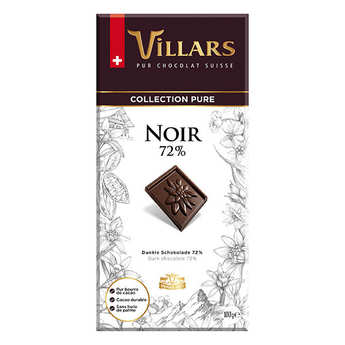 Villars maître chocolatier - Villars Dark Chocolate 72%