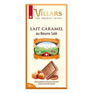 Villars maître chocolatier - Milk chocolate bar with Caramel Crumb Villars