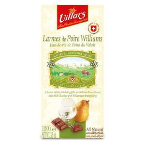 Villars maître chocolatier - Chocolat au lait larmes de Poire Williams