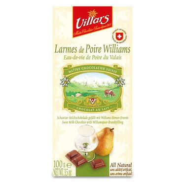 Chocolat au lait larmes de Poire Williams