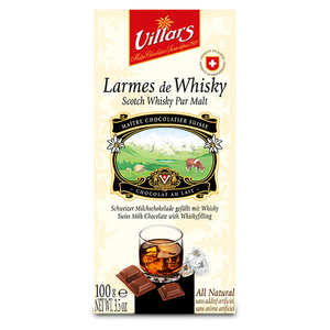 Villars maître chocolatier - Milk Chocolate with Tears of Malt Whisky