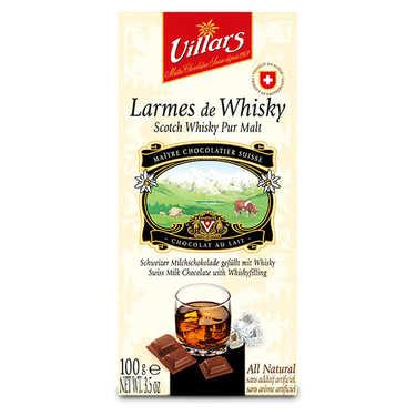 Chocolat au lait larmes de Whisky Pur Malt