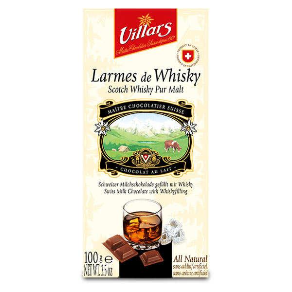 Chocolat au lait larmes de whisky pur malt - tablette 100g