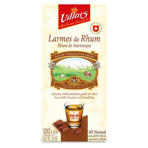 Villars maître chocolatier - Milk Chocolate with Tears of Martinique Rum