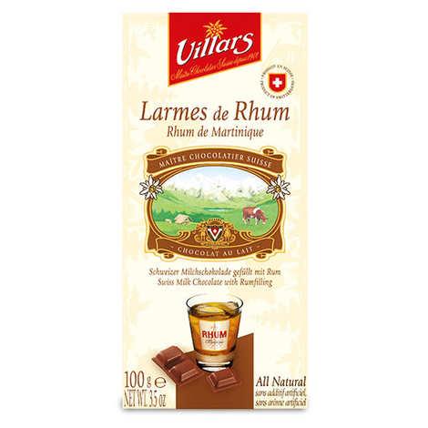 Villars maître chocolatier - Chocolat au lait larmes de Rhum de Martinique