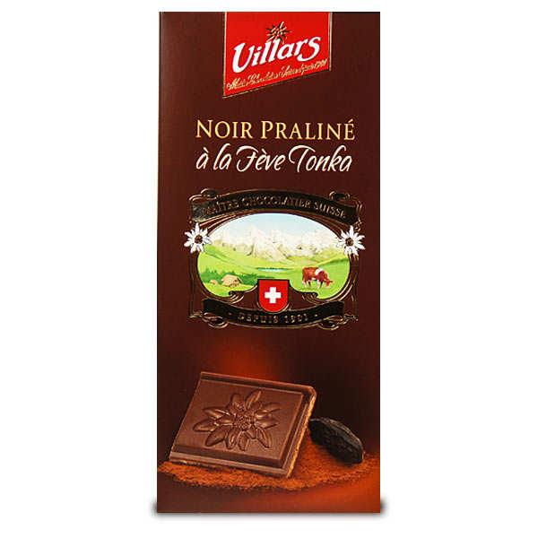 Dark chocolate praline stuffed with Tonka Bean