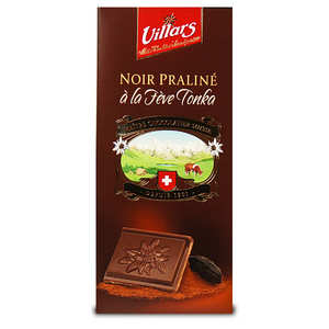 Villars maître chocolatier - Dark chocolate praline stuffed with Tonka Bean
