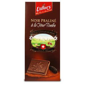 Villars maître chocolatier - Dark chocolate praline stuffed with Tonka Bean