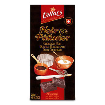 Villars maître chocolatier - Chocolat noir 63% à pâtisser
