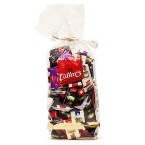 Villars maître chocolatier - Etuis de 100 Napolitains chocolat suisse (7 recettes)