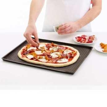 Lékué - Pizza mat - Tapis de four en silicone percé pour pizza