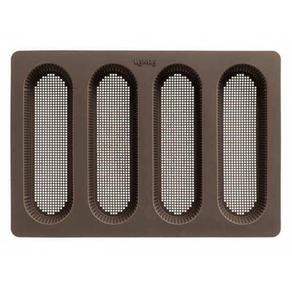 Tapis de four en silicone percé pour mini baguettes