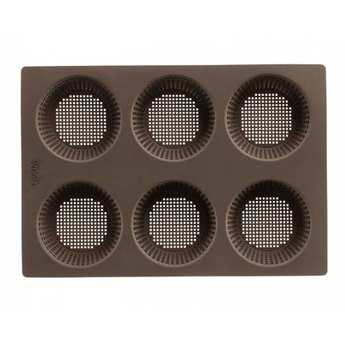 Lékué - Tapis de four en silicone percé pour petits pains ronds