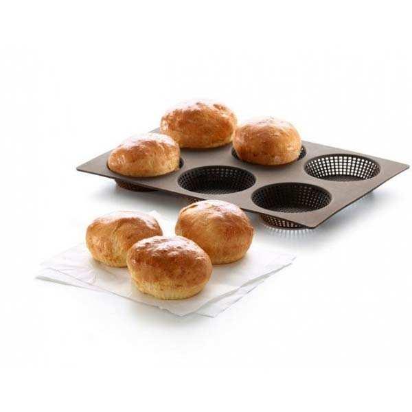 Tapis de four en silicone percé pour petits pains ronds