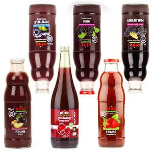 BienManger paniers garnis - Lot découverte 6 jus de fruits rouges bio