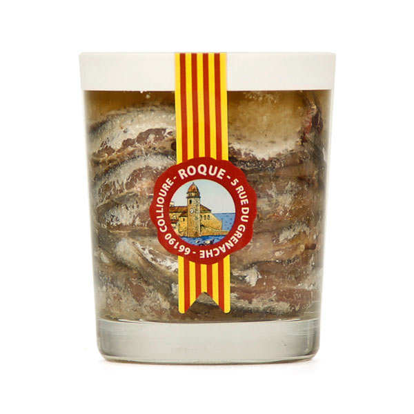 Anchois de Collioure entiers au sel