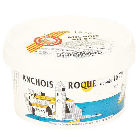 Roque - Anchois de Collioure entiers au sel