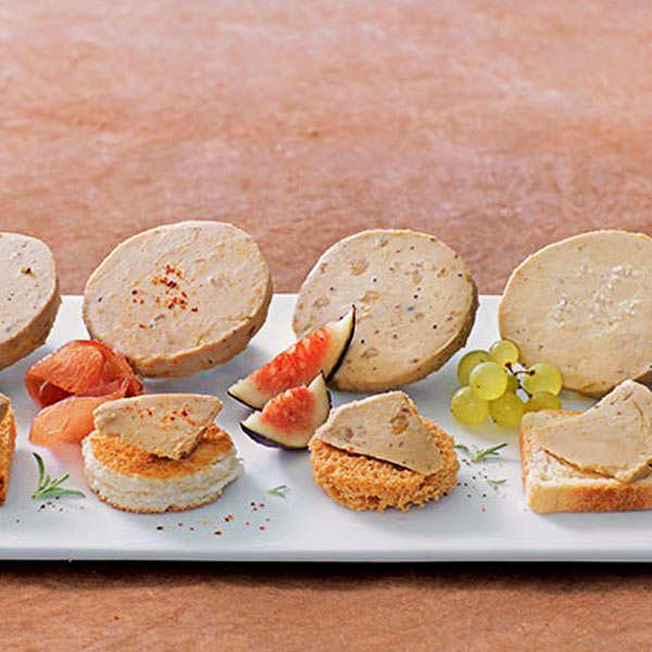 Harmonie de bloc de foie gras de canard au Sauternes
