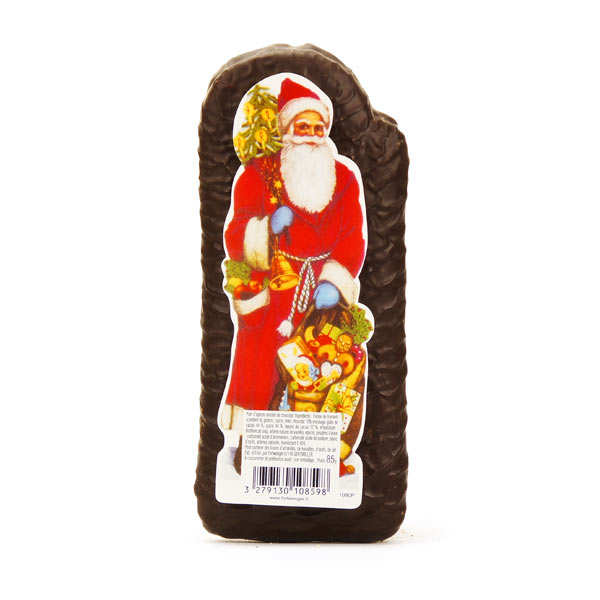 Père Noël pain d'épices alsacien enrobé de chocolat