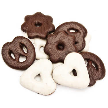 Chocolate and Iced Pretzels, Hearts and Stars