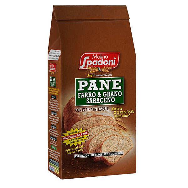 Farine pour pain à l'épeautre au sarrasin et au blé complet