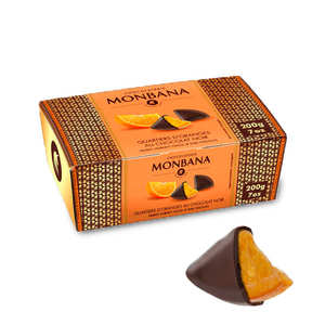 Monbana Chocolatier - Quartiers d'oranges enrobés de chocolat noir