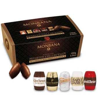 Monbana Chocolatier - Black chocolates stuffed with prestigious liquors