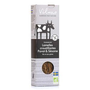 Vilmas Knäckebröd AB - Lamelles de pain croustillant bio noir et blanc