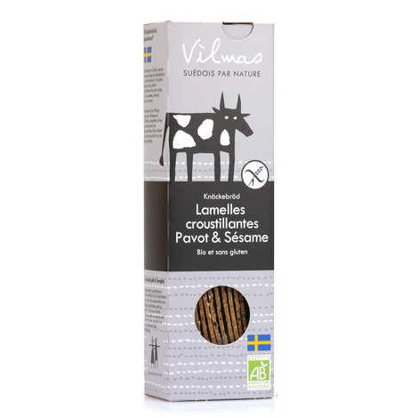 Vilmas Knäckebröd AB - Lamelles de pain croustillant bio noir et blanc sans gluten