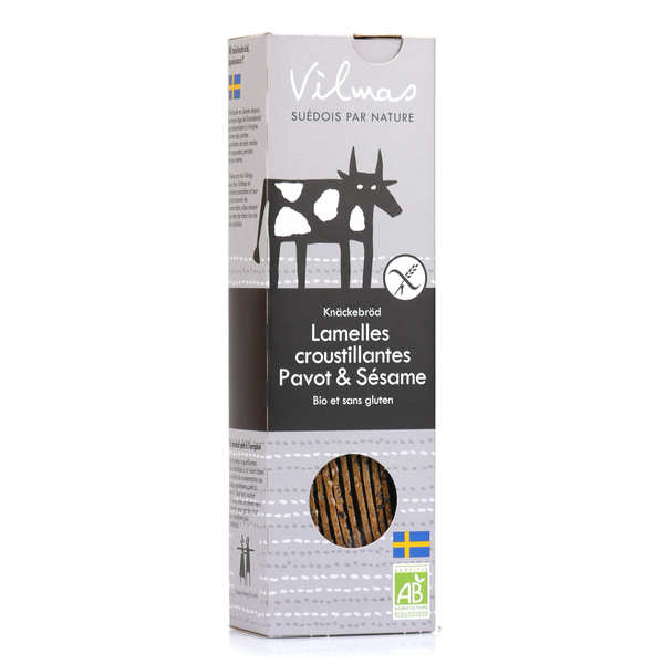 Organic Black and White Crispbread Slats