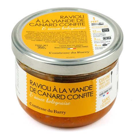 Comtesse du Barry - Les raviolis au confit de canard et sauce bolognaise