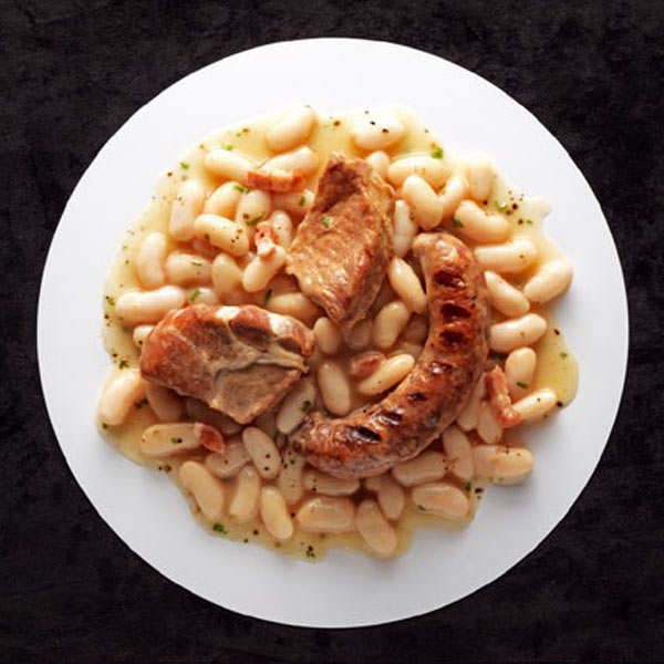 Cassoulet Gimontois and Grilled Toulouse Sausages