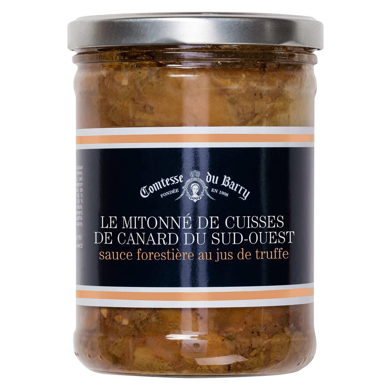 Simmer of Duck Leg Bordelaise with Porcini Mushrooms Sauce