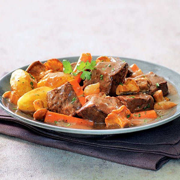 Wild Boar Stew Sauce and Chanterelles Huntsman